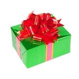 Подарок в цветастом пакете с смычками Стоковые Изображения RF