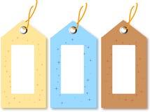 подарок голубого коричневого цвета маркирует желтый цвет иллюстрация вектора