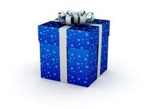 подарок голубой коробки Стоковые Изображения RF
