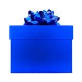 подарок голубой коробки стоковое фото