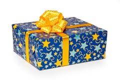 подарок голубой коробки стоковые фото