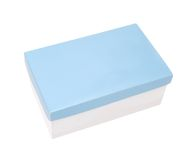 подарок голубой коробки Стоковые Изображения