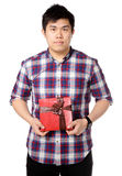 подарок дает человека стоковые фотографии rf