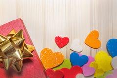 Подарок для предпосылки дня валентинок симпатичной сладостной, карточки, знамени Стоковое Фото