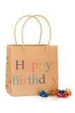 подарок дня рождения мешка счастливый Стоковые Фото