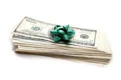 подарок долларов смычка Стоковое Изображение RF