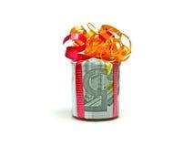 подарок евро 5 Стоковая Фотография