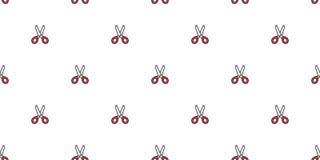 Подарок иллюстрации обоев повторения предпосылки плитки бумаги парикмахерской салона стрижки картины ножниц безшовным изолированн иллюстрация вектора