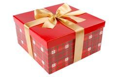 подарок коробки красный определяет Стоковое Изображение