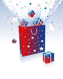 подарок коробки мешка Стоковое Фото