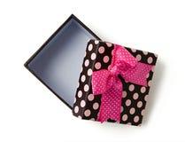 подарок коробки открытый Стоковое Изображение