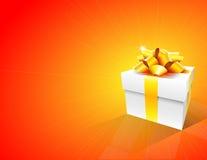 подарок коробки предпосылки Стоковое Изображение