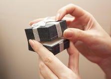 подарок коробки смычка Стоковое Изображение RF