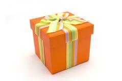 подарок коробки счастливый стоковое изображение rf