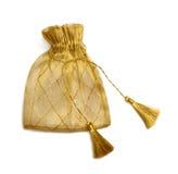 подарок мешка золотистый Стоковая Фотография RF
