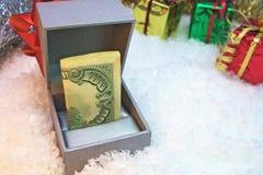 Подарок наличных денег Стоковое Фото
