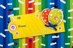 подарок на день рождения стоковое изображение