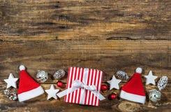 Подарок на рождество и украшение Стоковая Фотография RF