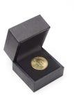 подарок одно доллара монетки черного ящика мы Стоковые Фото
