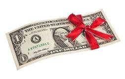 подарок одно доллара Стоковые Фотографии RF