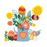 Подарок пасхальных яя иллюстрация вектора