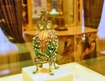 Подарок пасхи яичка Faberge к имперской семье стоковое фото