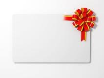 подарок пустой карточки Стоковые Изображения RF