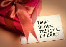 подарок рождества карточки веселый Стоковые Фото