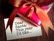 подарок рождества карточки веселый Стоковое Фото