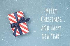 подарок рождества карточки коробки Стоковые Изображения RF