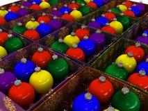 подарок рождества коробок шариков Стоковое фото RF