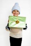 подарок рождества мальчика немногая Стоковое Изображение