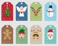 Подарок рождества маркирует декоративную иллюстрацию бесплатная иллюстрация