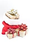 подарок рождества мешка стоковые фотографии rf