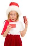 подарок рождества ребенка коробки счастливый Стоковые Изображения