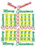 Подарок рождества с с Рождеством Христовым текста Стоковое Изображение RF