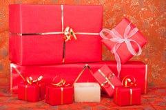 подарок свечки коробок Стоковое Изображение RF