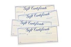 подарок сертификата стоковые фотографии rf
