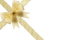 подарок смычка золотистый Стоковое Изображение