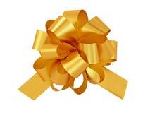подарок смычка золотистый Стоковая Фотография