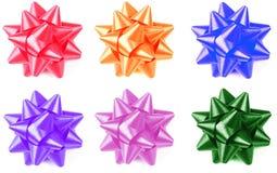 подарок смычка цветастый Стоковое Изображение