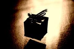подарок стилизованный стоковое фото