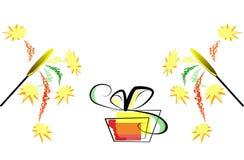 подарок торжества коробки Стоковые Фотографии RF