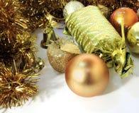 Подарок фото рождества с конфетой в золотой оболочке, рождеством b Стоковые Фотографии RF