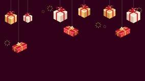 Подарок Chritsmas отснятого видеоматериала для продажи Chritsmas иллюстрация вектора