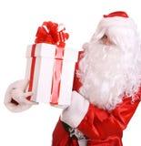 подарок claus коробки смычка давая красный santa Стоковое Фото