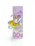 подарок fivehundred евро Стоковая Фотография