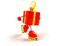 подарок rollerblading иллюстрация штока