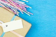 Подарочная коробка бумаги Kraft стоковые фото