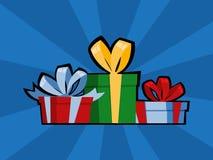 Подарочная коробка искусства попа на день рождения или подарок на рождество бесплатная иллюстрация